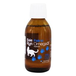 Baie Run - Feline Liquid Omega 3 EPA & DHA Fish Oil Supplement Ocean Fish Flavor - 4.7 fl. oz.