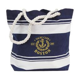 Americaware Ctbbos01 Boston Canvas Nautical Embroidered Tote Bag