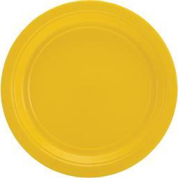 """Big Party Pack Luncheon Plates 7"""" 50/Pkg Sunshine Yellow"""