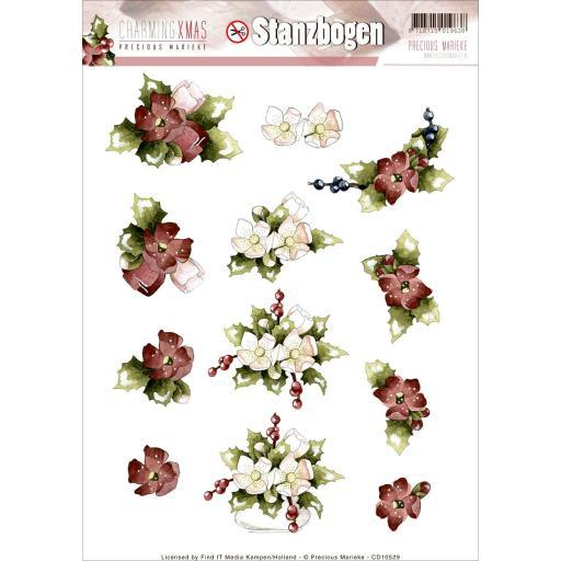 Find It Trading Precious Marieke Punchout Sheet Charming Christmas