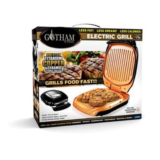 Emson Div of E. Mishon 245228 Gotham Steel Electric Folding Grill