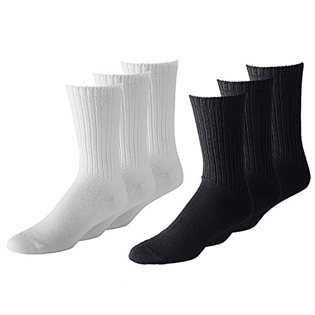 12 Pairs Men's or Women's Classic & Athletic Crew Socks - Bulk Wholesale Packs - Any Shoe Size