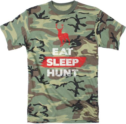 Mens Eat Sleep Hunt Funny Deer Hunting Camouflage Print T shirt