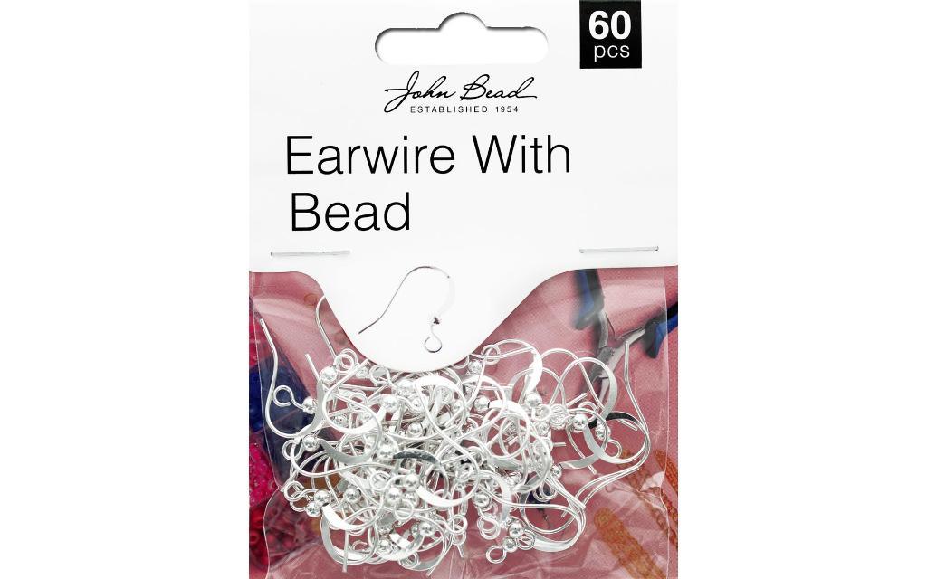 26001401-003 john bead mhf earwire w bead slv 60pc