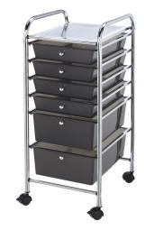 Alvin sc6sm storage cart 6-drawer (standard and deep) smoke