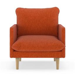 NyeKoncept 50090542 Abbey Armchair Pebble Weave - Poppy Orange with Natural Finish