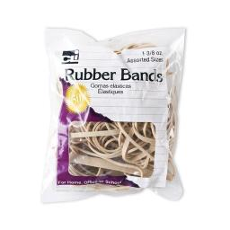Charles Leonard CHL56381BN Rubber Bands, Natural - Pack of 12