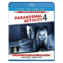 Paranormal activity 4 (blu-ray/dvd w/digital copy/rated and unrated) BR136454