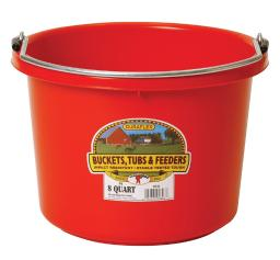 Little Giant 8 qt. Bucket Red - Case Of: 1;