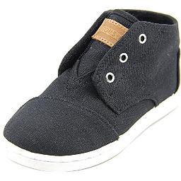 TOMS Black Canvas Youth Classic Paseos MD 10002661 (Size: 5.5D)
