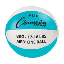 Champion Sports Mb16 17-18 Lbs Leather, Teal & White