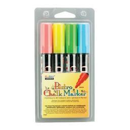 Uchida of america corp. 4804a bistro chalk bld mrk fluorescent set (red, blue,grn,yellow)