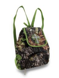 Forest Camouflage Rhinestone Cross Backpack Sling Bag