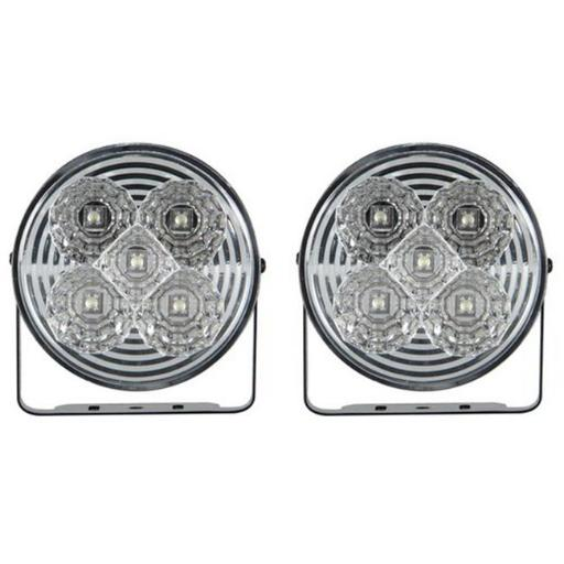 Pilot Automotive NV-2038W 4 In. Round 5 LED Daytime Running Lamp Accent Light