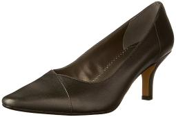 Bella Vita Womens Wow Leather Pointed Toe Classic Pumps