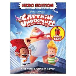 Captain underpants-1st epic movie (blu-ray/dvd/digital hd/cape) BR105501