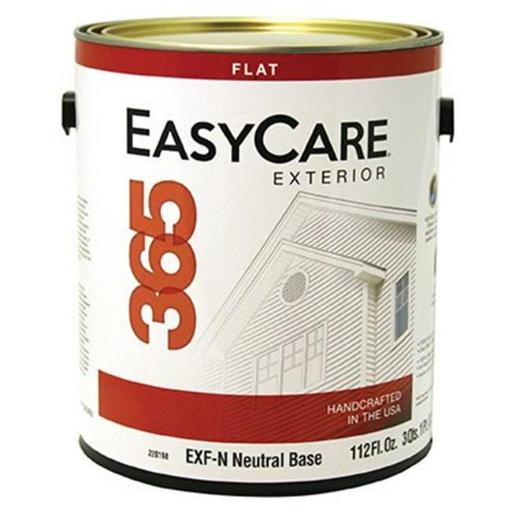 True Value Manufacturing 220198 1 gal EXF-N Easycare 365 Neutral Base Exterior Latex House Paint, Durable Acrylic Flat