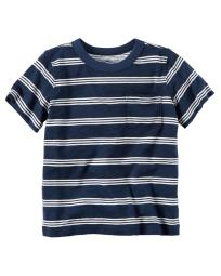 Carter's Baby Boys' Striped Pocket Tee, 6 Months