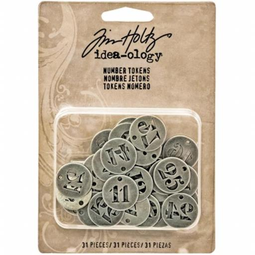 Advantus TH93244 Idea - Ology Metal Number Tokens, Antique Silver - 0.75 in.