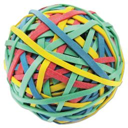 """Rubber Band Ball 3"""" Diameter Size 32 Assorted Colors 260 Per Pack   Total Quantity: 1"""