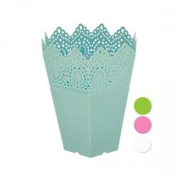 bulk-buys-gc666-decorative-hexagonal-multi-use-flower-pot-white-green-blue-pink-tusgzwbfaeyasmgn
