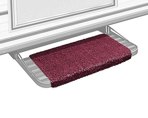 Prest-O-Fit 2-1044 Wraparound Step Rug (18In Wide) - Burgundy Wine