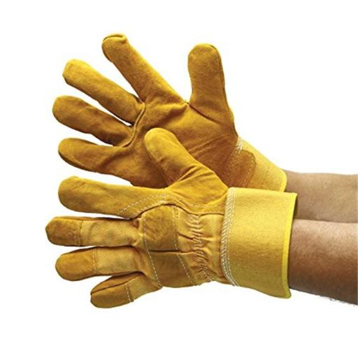 Major Gloves & Safety 30-3111-XL Joint Leather Double Palm Work Gloves - Extra Large, Pack of 6
