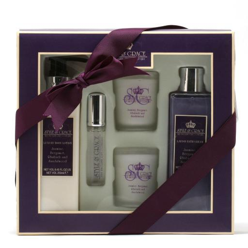 Rainbow Cosmetics Style & Grace Timeout Bath Exp 8.45Bl/8.45Bc/.51Sp/Candles -2