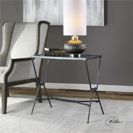 Uttermost 24798 Gauther Aged Steel Accent Table