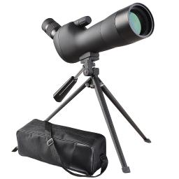 20-60x60mm Zoom Angled Spotting Scope Monocular Telescope Angled Eyepiece Waterproof with Tripod and Soft Case 04SPS001-20X60-06