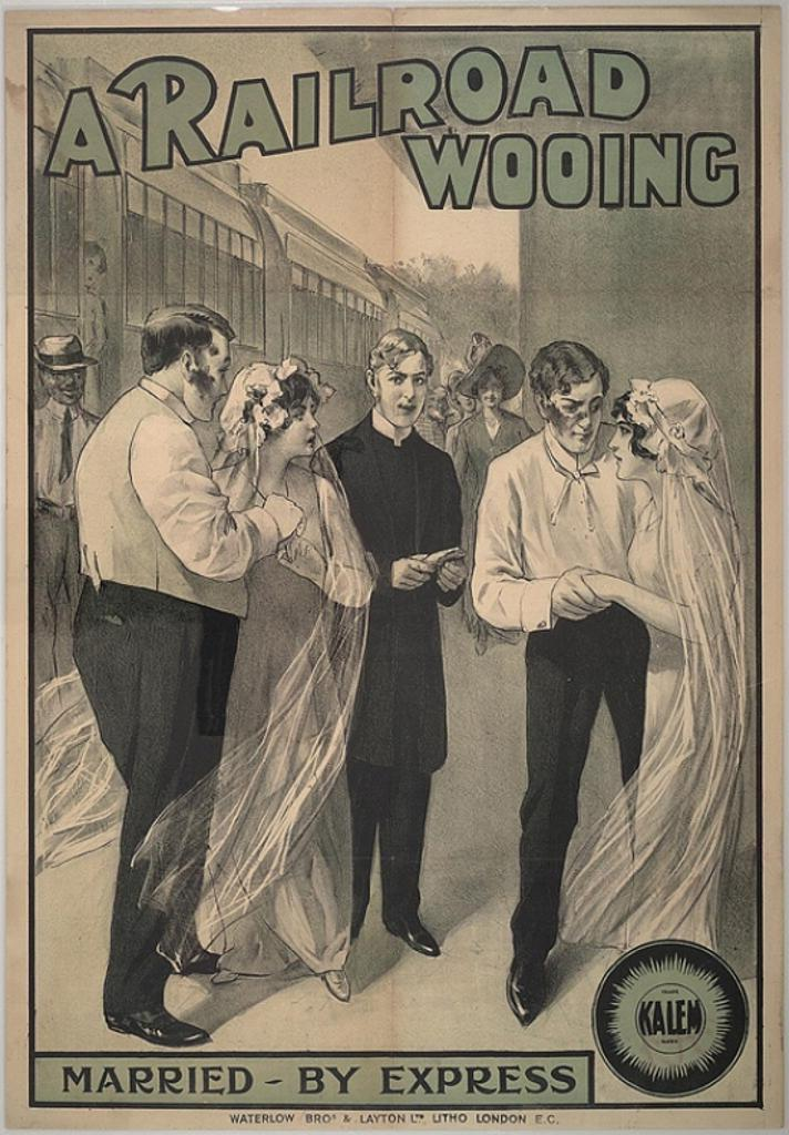 A Railroad Wooing Movie Poster (11 x 17)