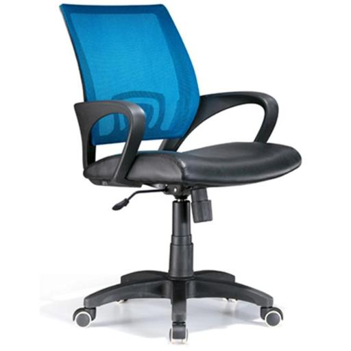 Lumisource OFC-OFFCR MBU Officer Office Chair Blue