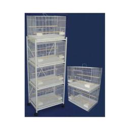 YML 6x2424WHT Lot of Six Small Bird Breeding Cages in White