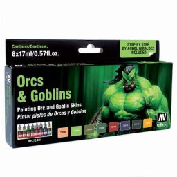 Acrylicos Vallejo VJP72304 8 Game Color Orcs & Goblins Paint Set