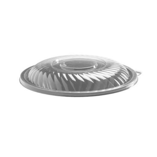 EMI Yoshi EMI-PTB12L Prepserve 12 in. Diameter Clear Pet Lid For 160Oz Bowls - Pack of 25