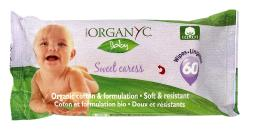Organyc - Organic Sweet Caress Baby Wipes - 60 Wipe(s)