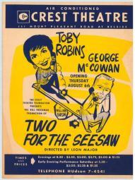 Two For the Seesaw (Play) Movie Poster Print (27 x 40) MOVAG3993