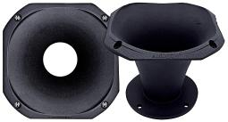 Audiopipe aph-6050bo-h audiopipe 6 high frequency aluminum horn each