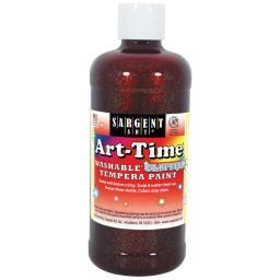 Washable Art-Time(R) Glitter Tempera Paint 16oz Red