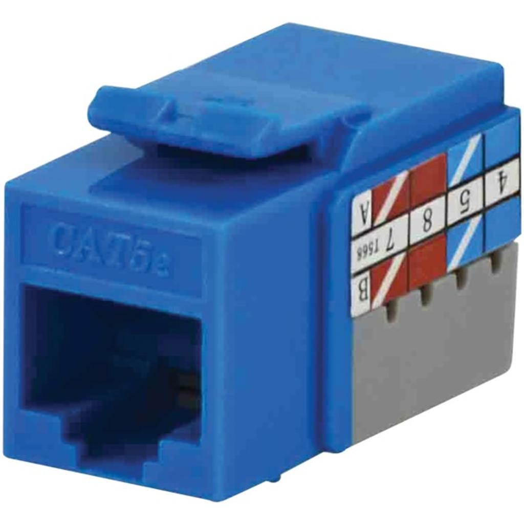 Datacomm electronics 20-3425-bl-10 cat-5e jacks, 10 pack (blue)