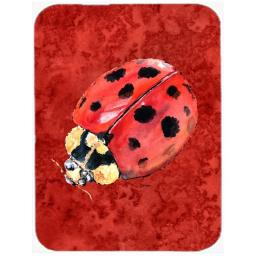 Carolines Treasures 8870LCB Lady Bug on Deep Red, Glass Cutting Board - Large 8870LCB