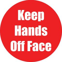 Flipside products keep hands off face red anti-slip