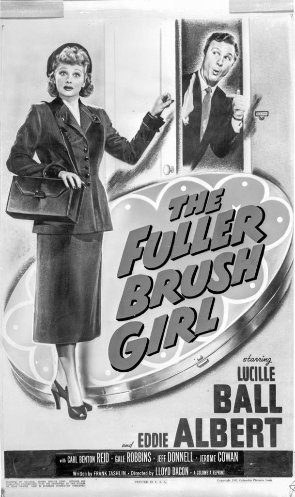 A Poster For the Fuller Brush Girl Photo Print