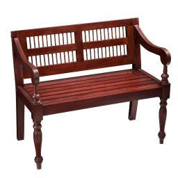 Holly and Martin Cheyenne Classic Bench in Mahogany
