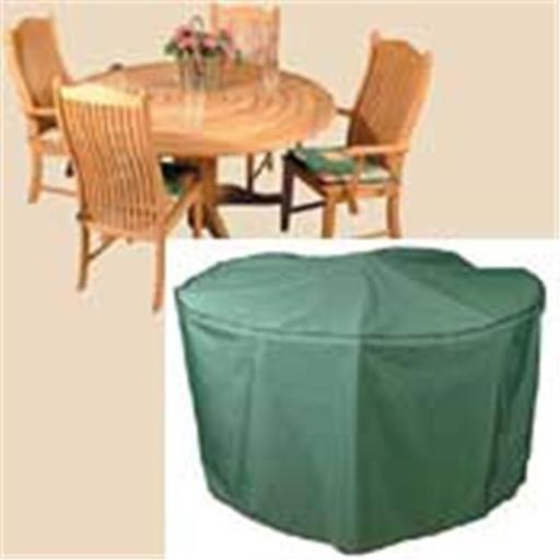 98 Inch Round Table and Chairs Polyethylene Cover