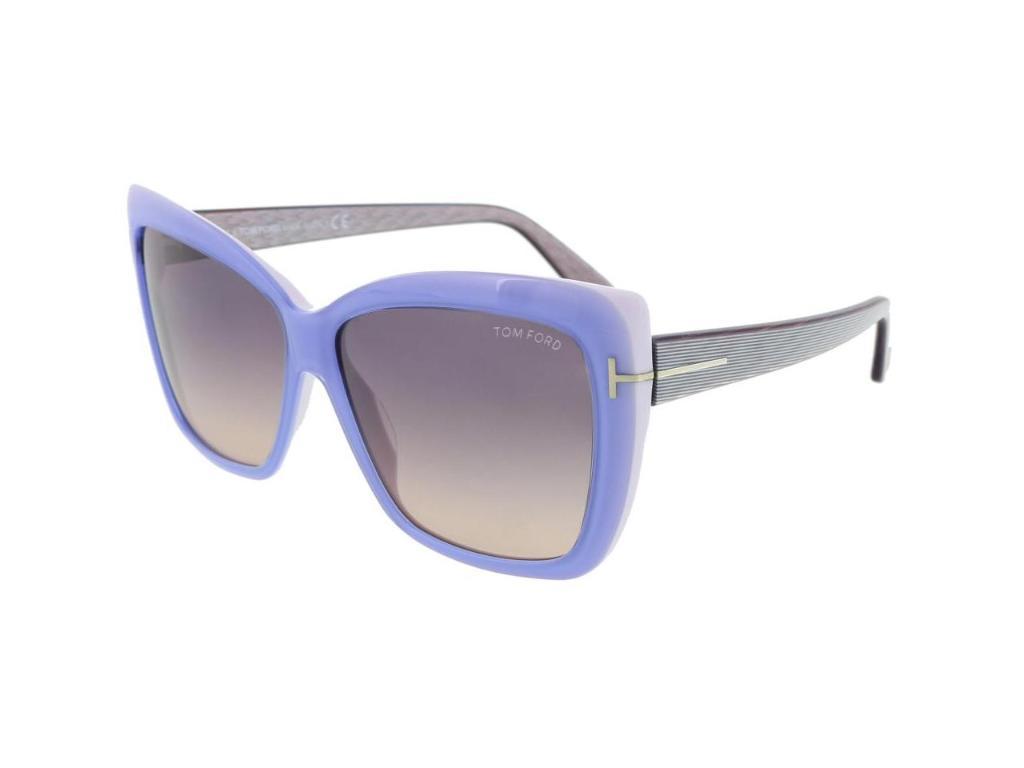 f1f5724f00 Tom Ford Tom Ford FT-0390 Women s Sunglasses Shiny Light Blue Frames ...
