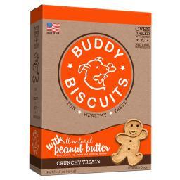 Buddy Biscuits 12500 Buddy Biscuits Original Oven Baked Crunchy Treats Peanut Butter 16 Ounces