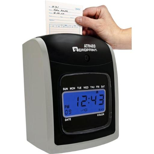 Acro Print Time Recorder 09-9115-000 7.5 x 3.35 in. Time Card for ATR480 Totalizing Electronic Time Clock - 50 Per Pack