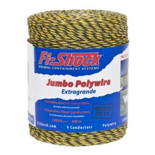 Fi-shock Pw1320y9-fs Electric Fence Poly Wire, Yellow, 1320'