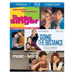 Wedding singer/going the distance/music & lyrics (blu-ray/tfe) BRN340212